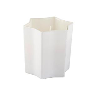 Vela em Vidro Estrela 7,5×7,5cm – Com 3 opções de cores e aromas – Branco