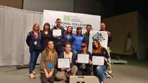 Tiffany with students at NALP sponsored National Collegiate Landscape Competition. Proud teacher!