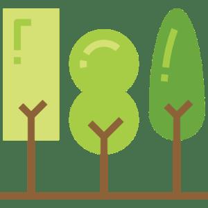 Three trees icon