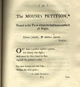Anna Lætita Barbauld (née Aikin), Poems (1773). From Poems: a hypertext edition, eds. Lisa Vargo & Allison Muri, University of Maryland