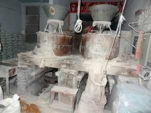 Flour Mill in a roadside shop in Punjab, India
