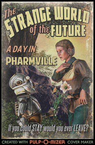 Pulp sci-fi cover