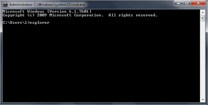 Comand Prompt Type Explorer