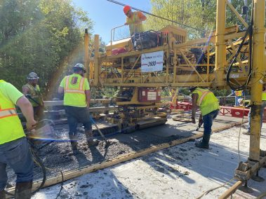 BC Bridge Pour 3 scaled - CA112556 - Middle Stella Ireland Rd. Bridge Wearing Surface Replacement