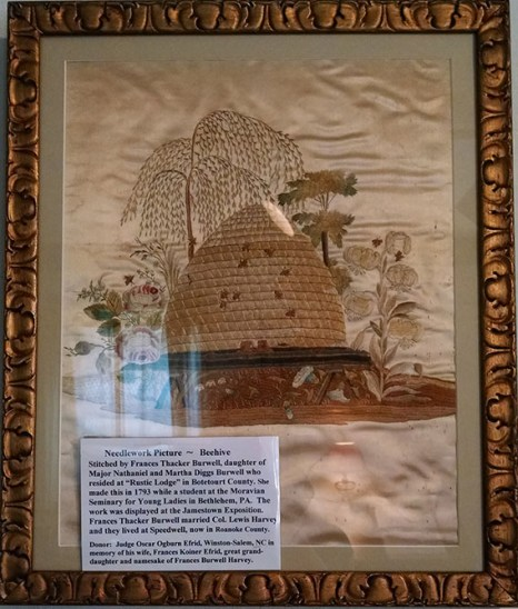 Needlework Picture of a Beehive