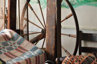 Loom and Coverlets from 1850