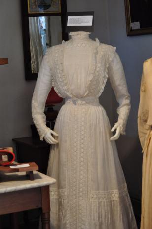 Edwardian Wedding dress worn by Willie Mae Brugh Circa 1915