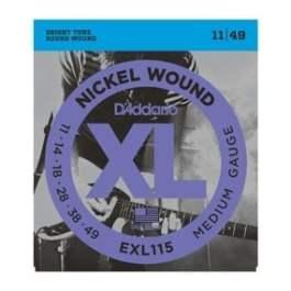 D'Addario EXL115 NICKEL WOUND ELECTRIC GUITAR STRINGS