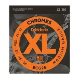 D'Addario ECG26 CHROMES FLAT WOUND ELECTRIC GUITAR STRINGS