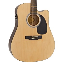 Squier SA-105CE DREADNOUGHT ACOUSTIC ELECTRIC GUITAR NATURAL FINISH