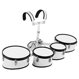BERGEN 8″ 10″ 12″ 13″ MARCHING TOM DRUM WITH CARRIER & STICKS