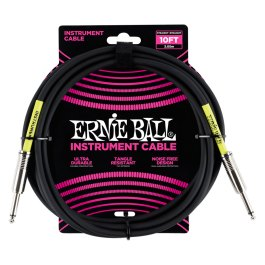 ERNIE BALL 10′ STRAIGHT / STRAIGHT INSTRUMENT CABLE – BLACK