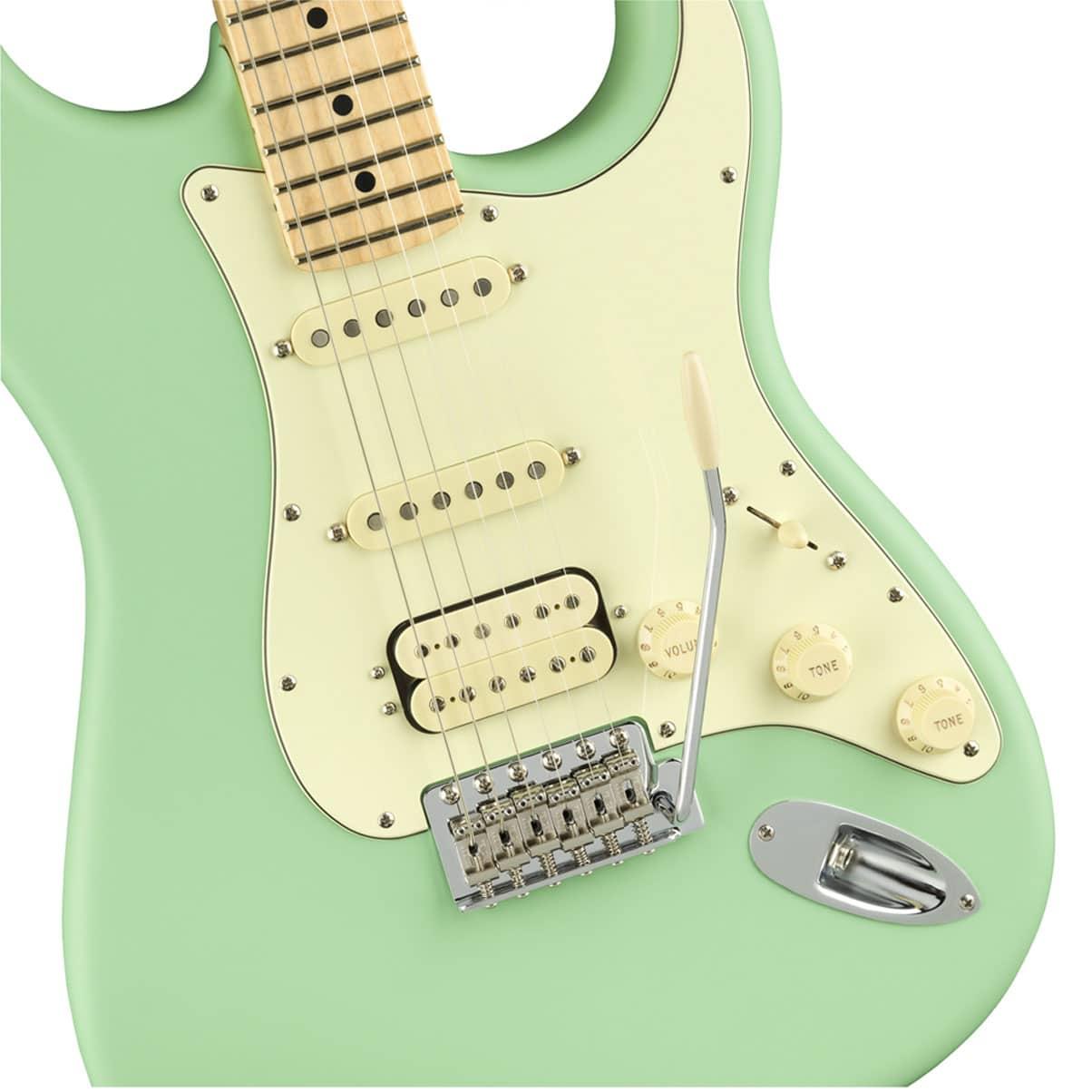 Fender AMERICAN PERFORMER STRATOCASTER® HSS Maple Neck Satin Surf Green