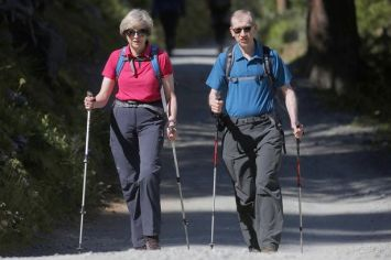 Theresa May Hiking