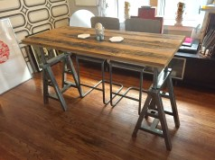 Trestle table at bar height alternative angle