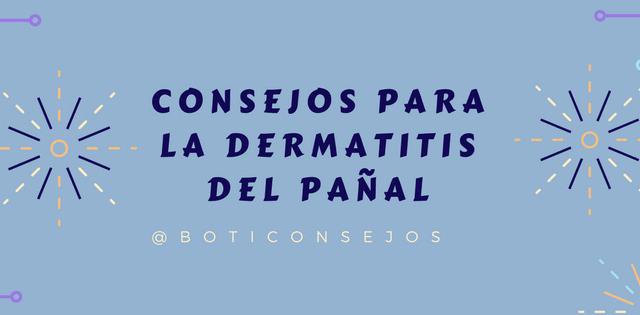 Consejos para la dermatitis del pañal