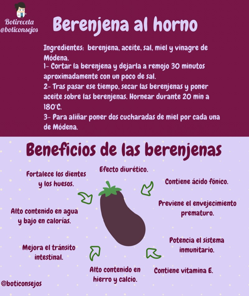 Beneficio de la berenjena