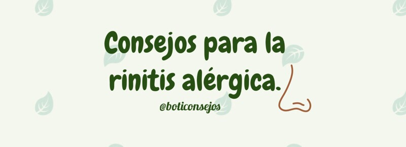 Consejos para la rinitis alérgica