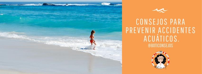 Consejos para la prevención de accidentes en zonas acuáticas.