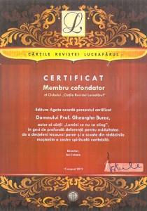 Certificat-Cofondator, Gh-Burac