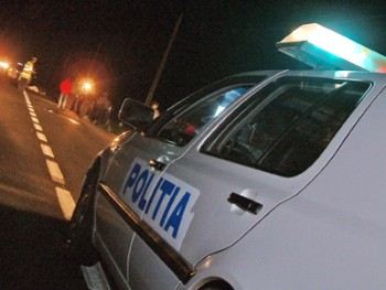 Politia noaptea accident
