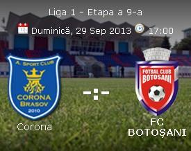 Corona Brasov- FC Botosani