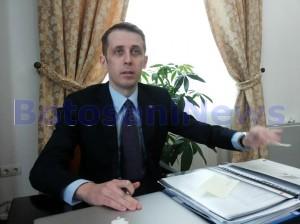 Ovidiu Portariuc in birou la Primaria Botosani
