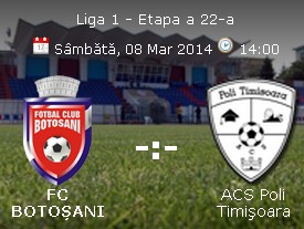 FC Botosani- ACS Poli Timisoara
