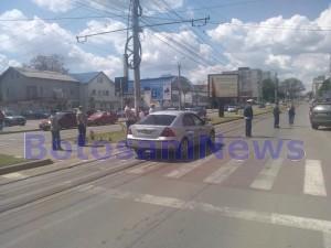 accident pe trecerea de pietoni din zona Stadionului Municipal - Botosani