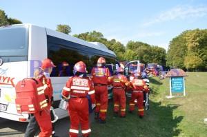 accident microbuz pompieri
