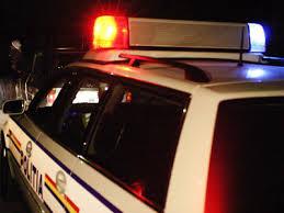 accident- masina politie noaptea