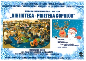 Afis Biblioteca Prietena copiilor COPII