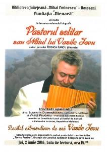 Afis Vasile Iovu Sala de lectura