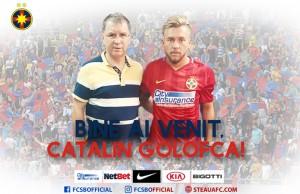 Cătălin Golofca alături de președintele executiv al FCSB, Valeriu Argăseală