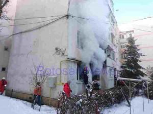 pompieri incendiu apartament botosani