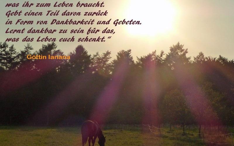 Worte der Göttin Ianana vor der Abendsonne