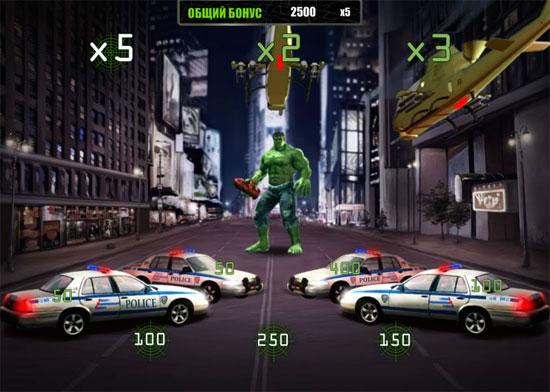 The Incredible Hulk бонусная игра