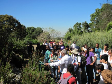 CPUT students use Kirstenbosch as their putdoor classroom 2014 © Catherine Clulow