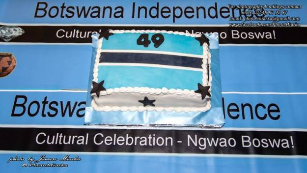 Flag with cake