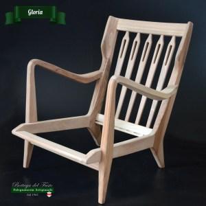 Gloria – Fusto per poltrona in legno massello di noce