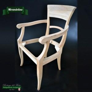 Mirandolina – Fusto per sedia in legno massello di noce