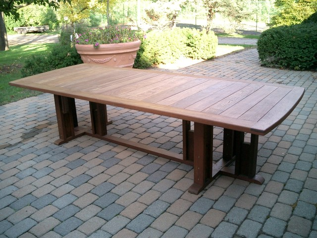 rectangular ipe' dining table - bottega ~ handmade outdoor furniture