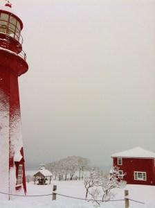 Phare de La Martre en hiver