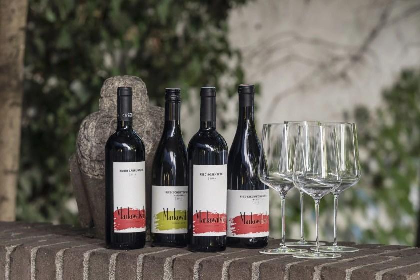 Vier unterschiedliche Markowitsch-Weine