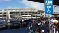 walk to the stadium