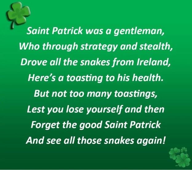 St Patricks Toast