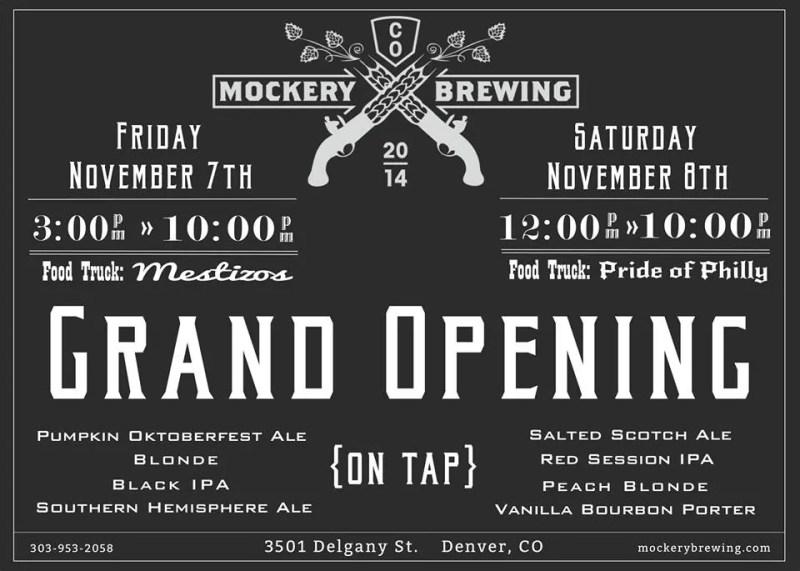 Mockery Brewing Grand Opening