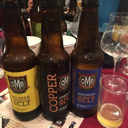 Three beers from Olde Mecklenburg Brewery