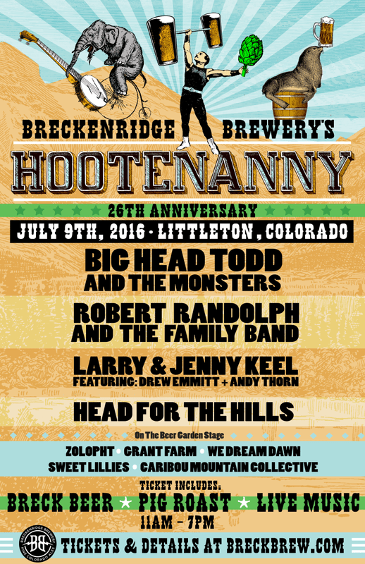 Breckenridge Brewery Hootenanny | July Events | BottleMakesThree.com