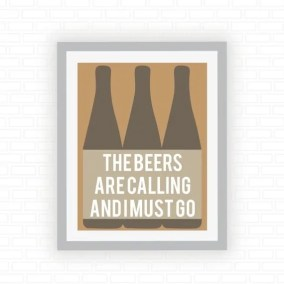 Printable Beer Art from ColorFiles on Esty. Starts at $15 | Super-Last-Minute Gifts for Beer Lovers | BottleMakesThree.com